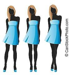 Set of women silhouettes
