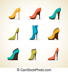 Set of women's shoes