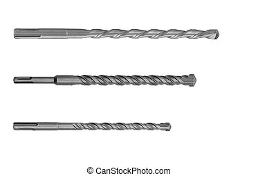 set of wood drill bits isolated