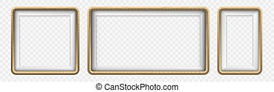 Set of Wooden stickers or labels with 3d frame. Wooden badge sign board for sale, price and discount design