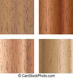 Set of wooden textures, vector