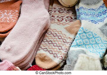 Set of woolen socks - woolen factory fashionable, stylish...