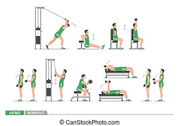 Set of workout for arms