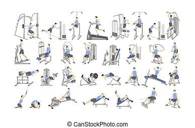 set of cardio exercise for slim arms workout or weight