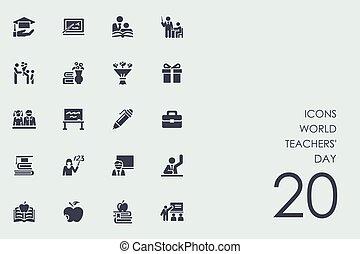 Set of world teachers' day icons
