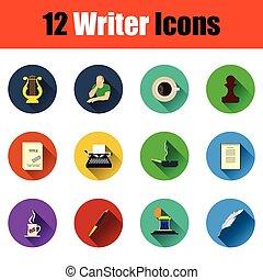 Set of writer icons