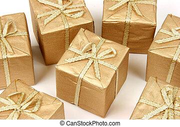 Set of Xmas gifts