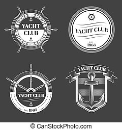 Set of Yacht club logo