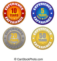 set of years experience sticker