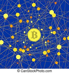 Set of Yellow Bitcoin Icons