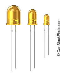 Set of yellow LEDs