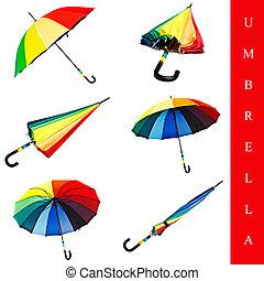 set, ombrello