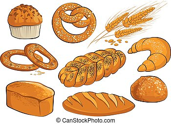 Set on a theme of bakery products.