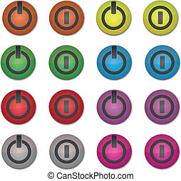 Set on/off colored buttons
