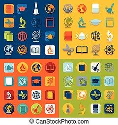set, opleiding, iconen