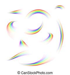 Set or rainbow rays
