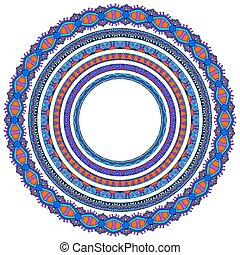 set, ornament, geometrisch, lijstjes, cirkel, grens, ronde