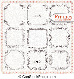 set ornate vintage frames