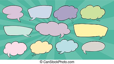 Set os speech balloon illustration