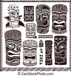 set, ouderwetse , aloha, tiki