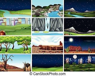 set, paesaggio, natura