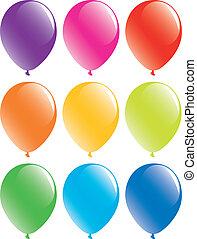 set, palloni, colorito