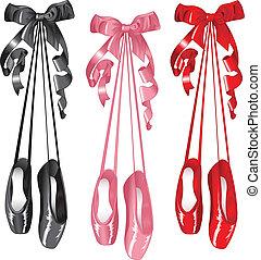 set, pantoffel, ballet