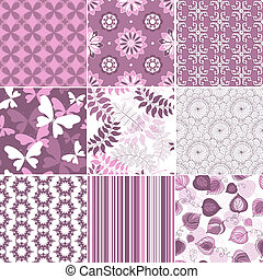 Set pastel seamless patterns