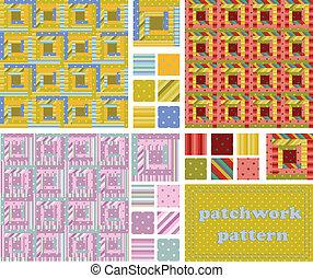 set patchwork pattern