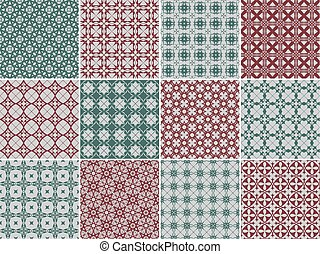 set, patterns., seamless