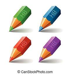 Set Pencil Vector Icon