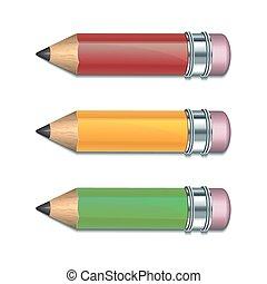 set, pencils., colorato