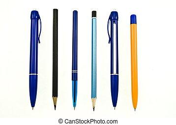 Set pens and pencils