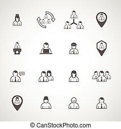 Set people vector design icon