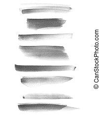 brush strokes isolated on white