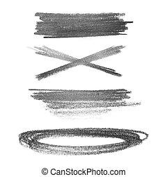 grunge strokes graphite pencil