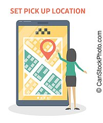 Set pick up location in the app. - Set pick up location in...