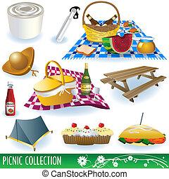 set, picnic, collezione