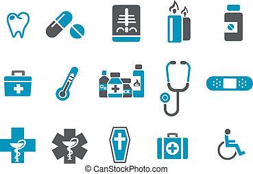 set, pictogram, gezondheid