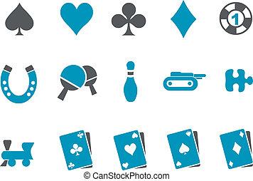 set, pictogram, spelen