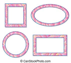 set picture frame design elements vector illustration