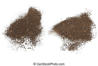 set pile soil isolated on white