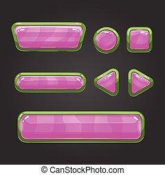 Set pink button