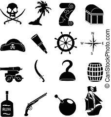 set, pirati, icone
