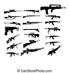 set, pistole
