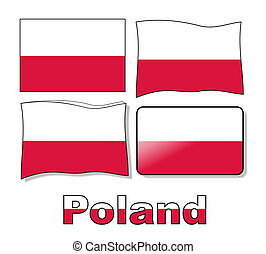 Set Poland flag