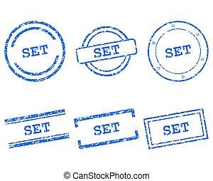 set, postzegels