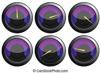 set, potere, viola, automobile, illustrazione, vettore,...