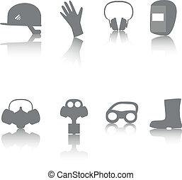 set, ppe, pictogram