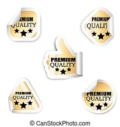 set, premie, stickers, -, vijf, kwaliteit